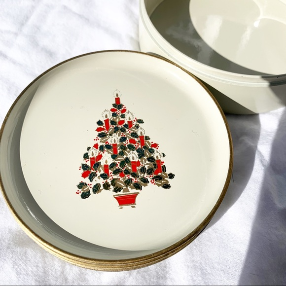 Vintage Other - Vintage Otagiri Lacquerware Christmas Tree Coaster